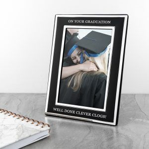 Personalised Silver Plated Graduation Photo Frame