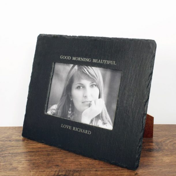 Personalised Slate Landscape Photoframe