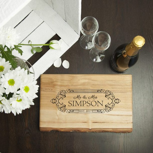 Personalised Special Date Welsh Ash Serving Board