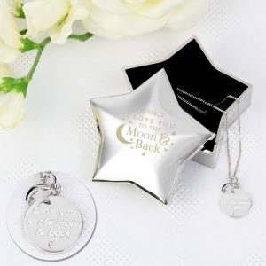 Personalised Star Trinket Box & Silver Pendant