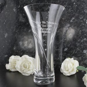 Personalised Swarovski Heart Vase