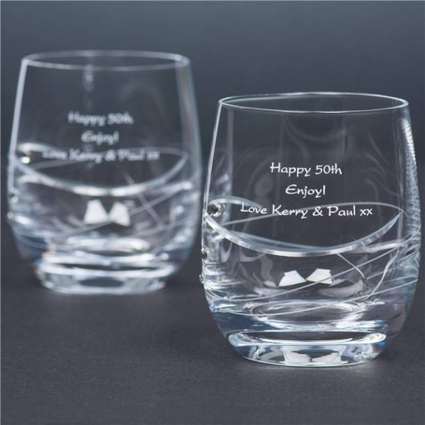 Personalised Swarovski Whisky Tumblers