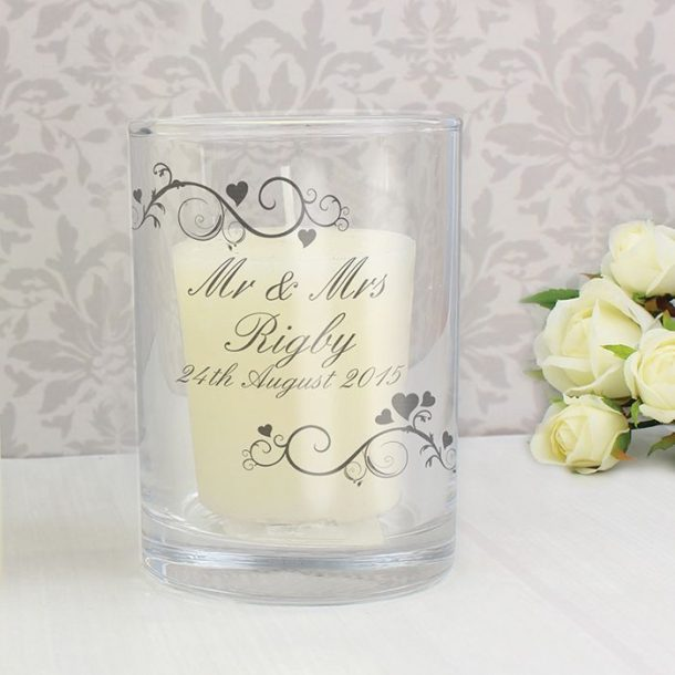 Personalised Swirl Candle Holder