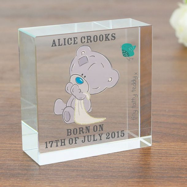 Personalised Tatty Teddy Crystal Token