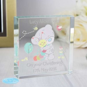 Personalised Tatty Teddy Glass Token