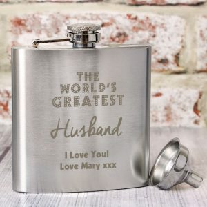 Personalised The Worlds Greatest Hip Flask