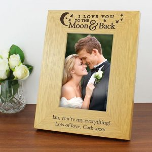 Personalised To the Moon & Back Photo Frame