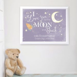 Personalised To the Moon & Back Poster Frame