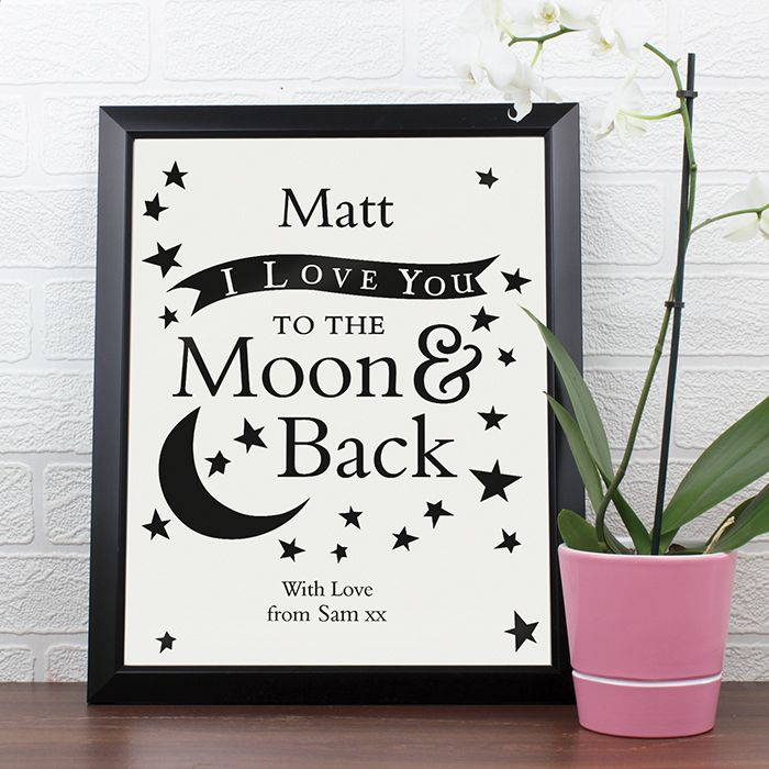 Personalised To the Moon & Back Poster Frame   Love My Gifts
