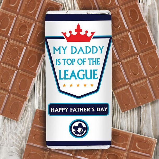 Personalised Top Of The League Chocolate Bar
