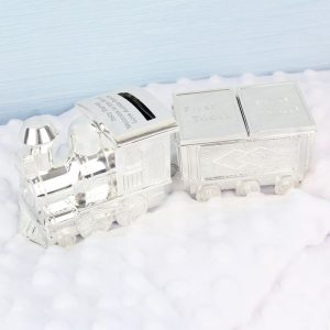 Personalised Train with Tooth & Curl Trinket Box