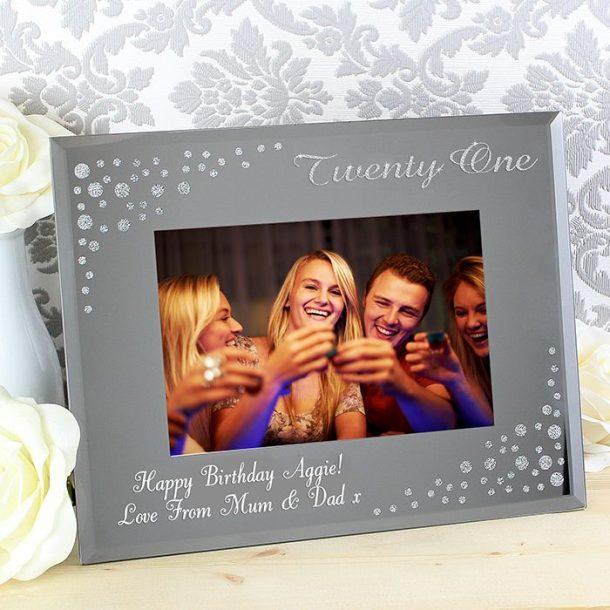 Personalised Twenty One Glass Photo Frame