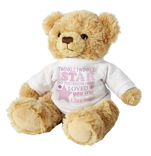 Personalised Twinkle Twinkle Girls Teddy