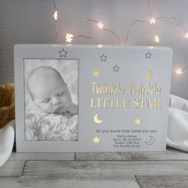 Personalised Twinkle Twinkle Light Up Frame