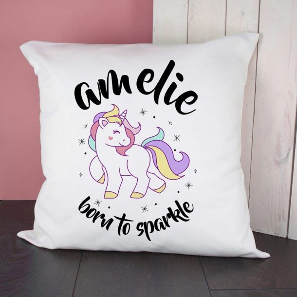 Personalised Unicorn Sparkle Cushion Cover