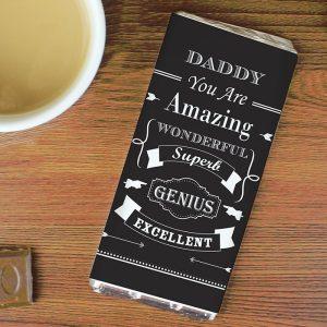 Personalised Vintage Typography Chocolate Bar