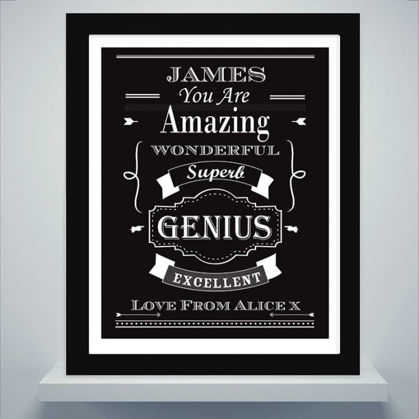 Personalised Vintage Typography Poster Frame