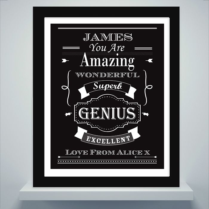 Personalised Vintage Typography Poster Frame | Love My Gifts