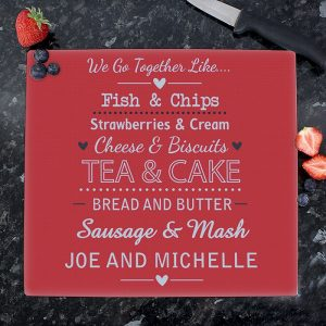 Personalised We Go Together Chopping Board