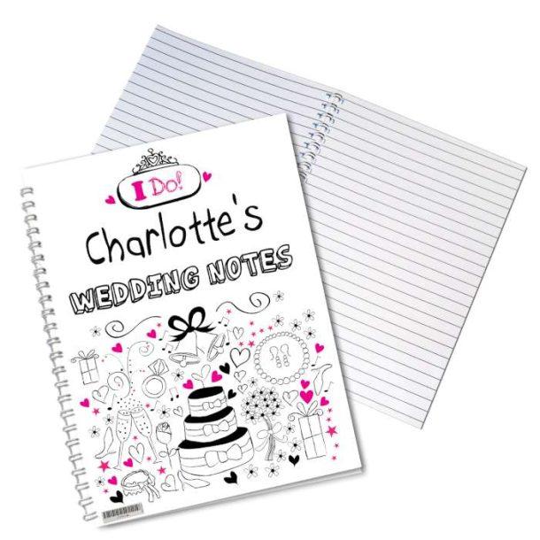 Personalised Wedding Notebook