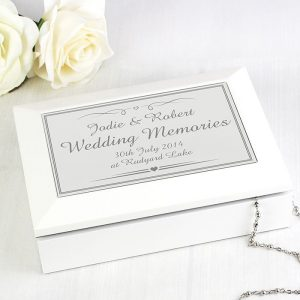 Personalised Wedding Wooden Keepsake Box