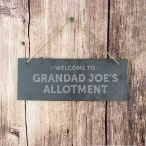 Personalised Welcome To Hanging Slate Sign