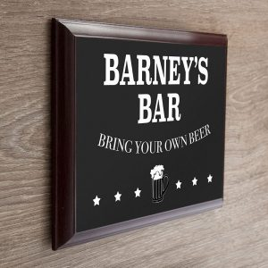 Personalised Welcome To My Bar Plaque