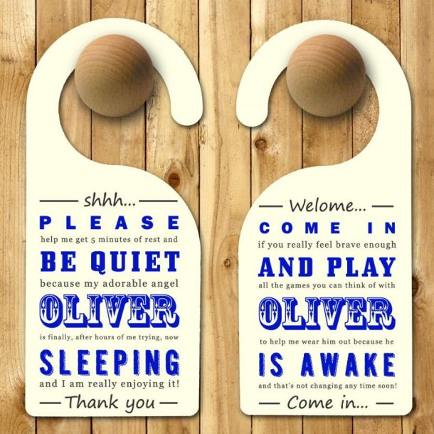 Personalised Witty Baby Door Hanger