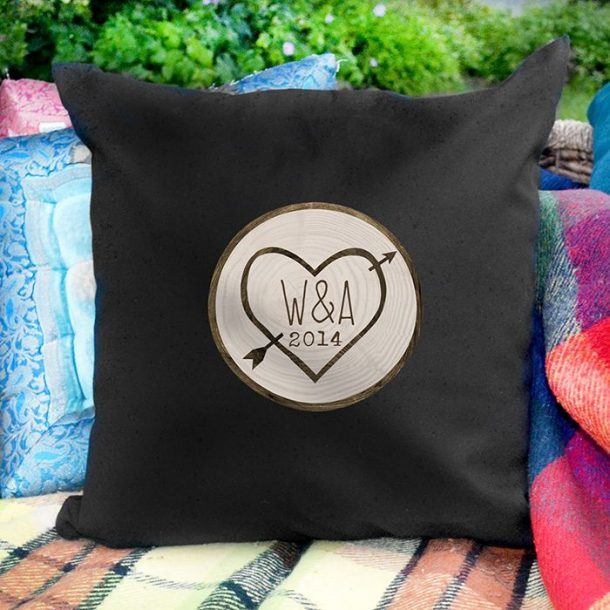 Personalised Wood Carving Cushion Cover