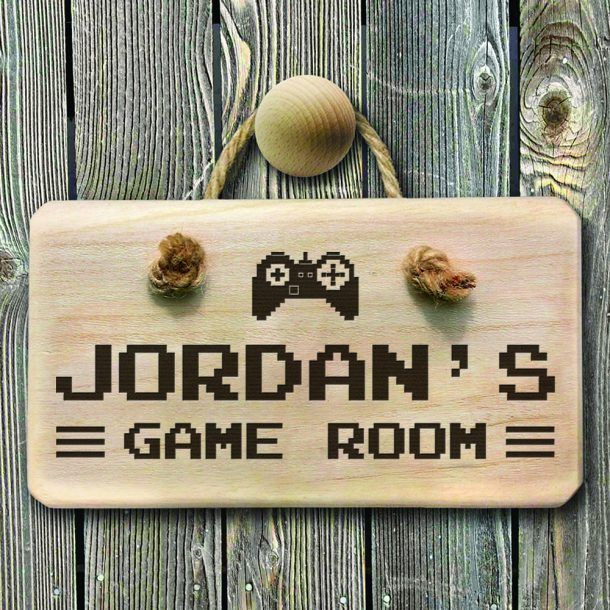 Personalised Wooden Game Room Sign