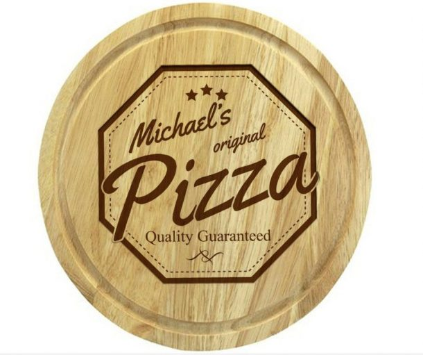Personalised Wooden Pizza Board