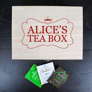 Personalised Wooden Tea Box