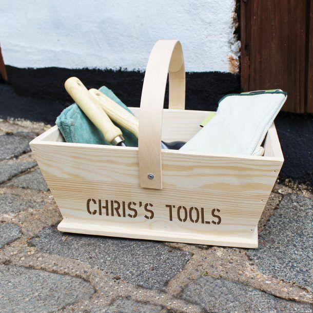 Personalised Wooden Tools Trug