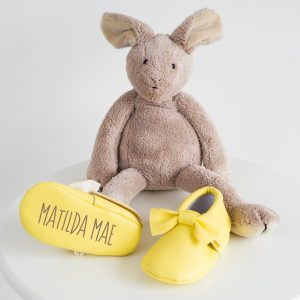 Personalised Yellow Name Booties