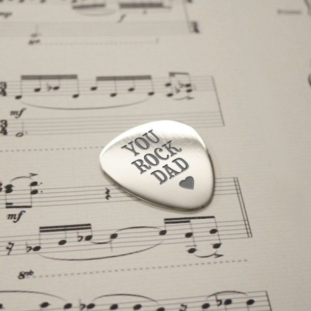 Personalised You Rock Dad Plectrum