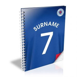Personalised Rangers FC Shirt A5 Notebook