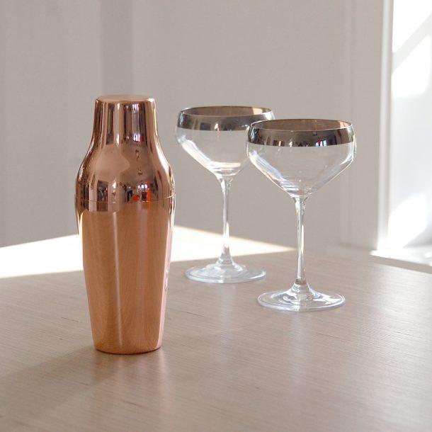 Rose Copper Cocktail Shaker