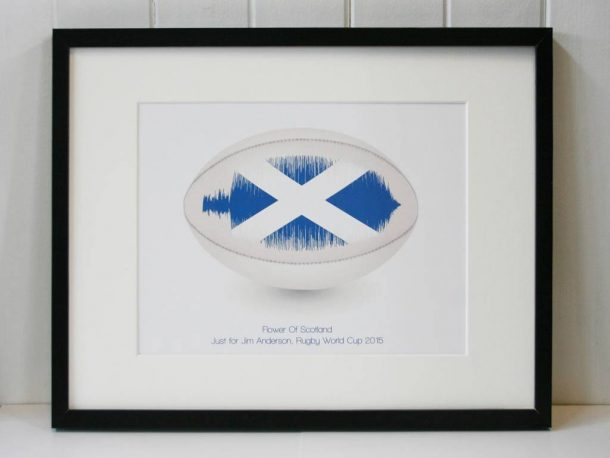 Personalised Rugby Song Wave Print