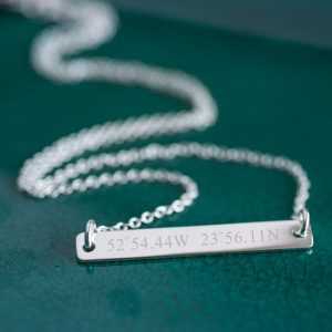 Sterling Silver Coordinates Necklace
