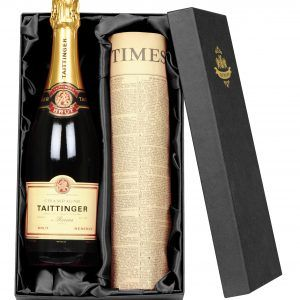 Taittinger Champagne & Original Newspaper