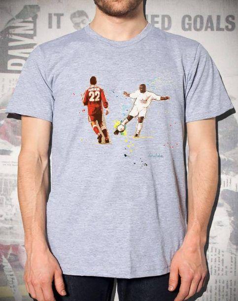 The Yeboah Volley - Leeds Utd T-Shirt