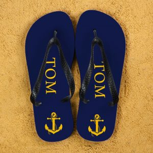 Personalised Anchor Style Flip Flops