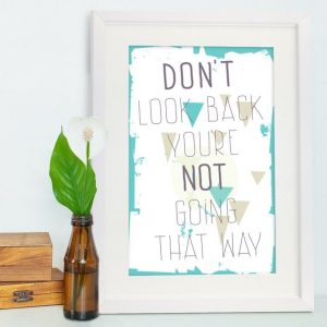 Don't Look Back Framed Poster