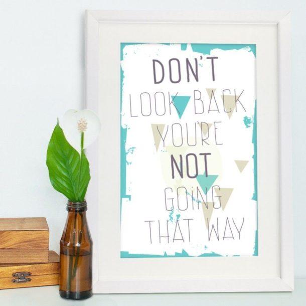 Don't Look Back Framed Poster