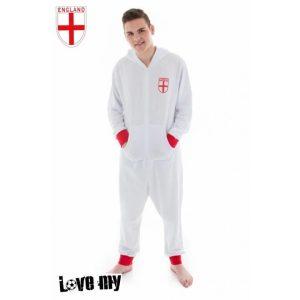Personalised Adult England Football Onesie