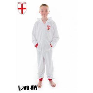 Personalised Kids England Football Onesie