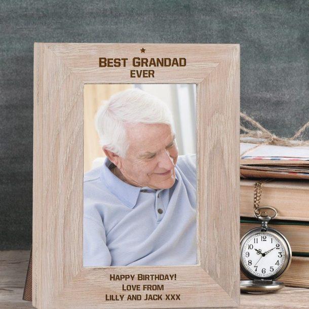 Engraved Best Grandad Ever Frame
