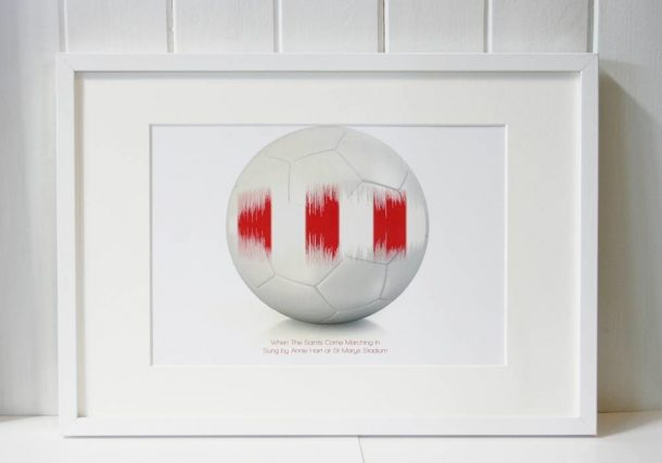 Personalised Football Song Wave Print