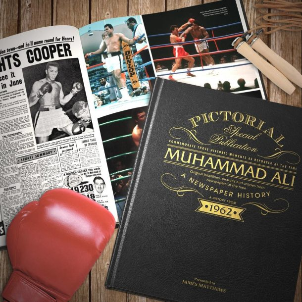Personalised Muhammad Ali Pictorial Edition Newspaper Book