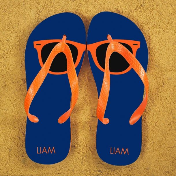 Personalised Holiday Style Flip Flops
